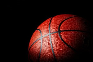 Close-up shot of a basketball