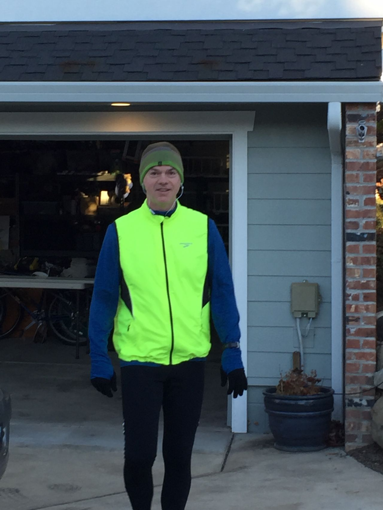 Dr. Merrill in his running gear.