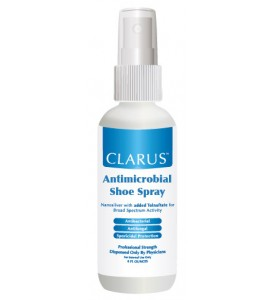 Clarus antimicrobial shoe spray