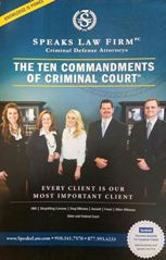 The Ten Commandments of Criminal Court