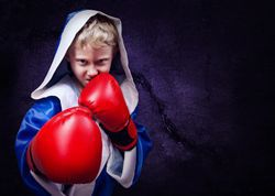 Boxing child