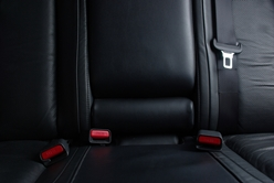 Close-Up View of the Back Seat With Seat Belts
