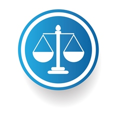Blue Scales of Justice Icon