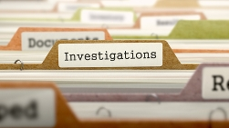 Investigations Tab in a Filing Cabinet