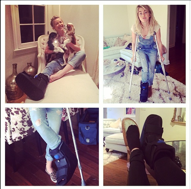 Hough's injury montage from her Instagram #tbt