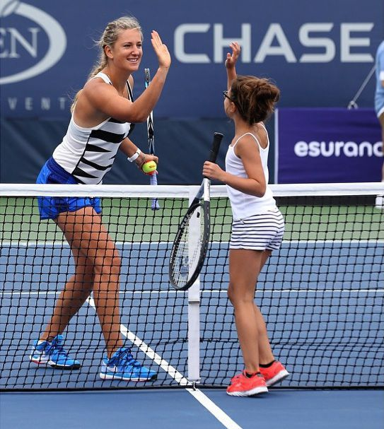Victoria Azarenka is happy to play with kids, not to talk about her foot injury