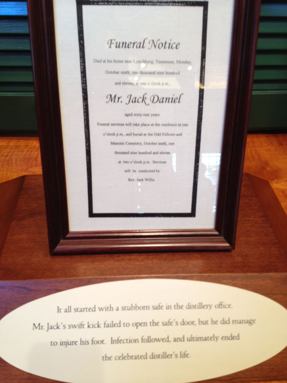 Jack Daniels died of Diabetic foot infection