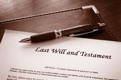 Last Will and Testament With a Pen