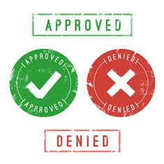 Approved or Denied Stamp