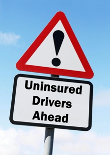 Uninsured driver traffic sign