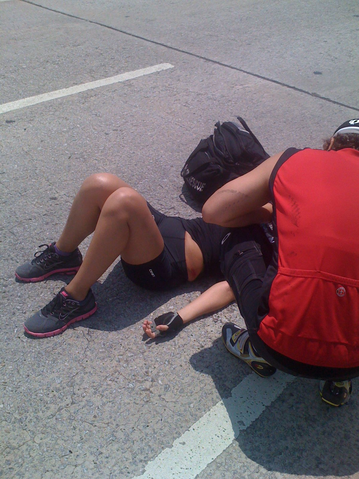 cyclist wreck