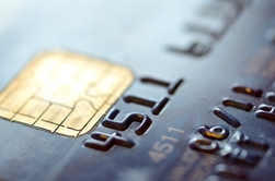 Close-Up View of a Credit Card With a Chip