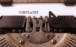 Complaint Letter in an Old Typewriter