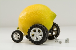 A Lemon Car With Broken Parts