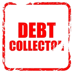 Worn Debt Collector Sign