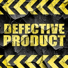 Crumpled Defective Product Sign