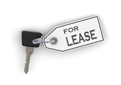 For Lease Key Chain With a Car Key