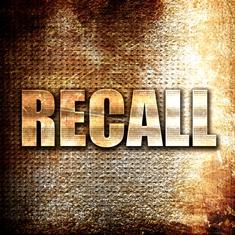 Metal RECALL Sign