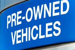 Pre-Owned Vehicle Sign