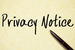 Privacy Notice With a Black Pen