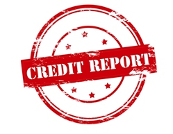 Red Credit Report Stamp