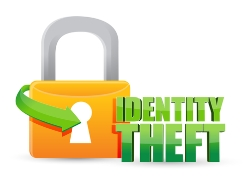 Identity Theft Lock Icon