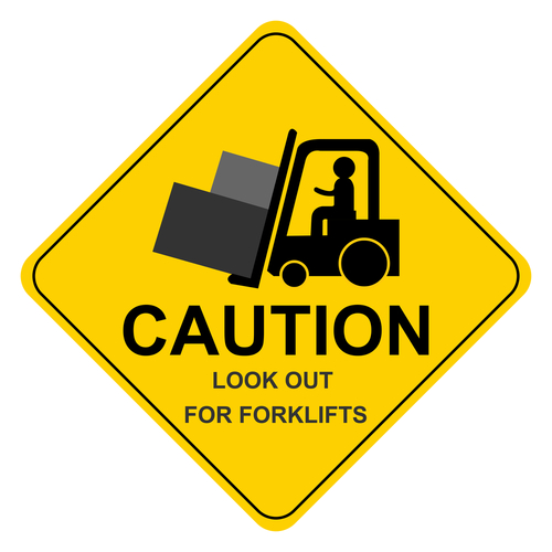 forklift caution sign