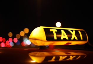 Taxi Cab lighted roof sign