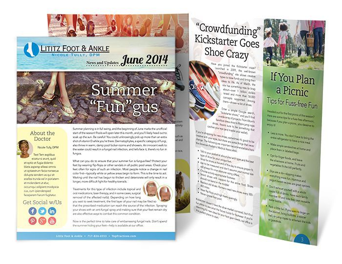 Top Practices Customized Podiatry Newsletters