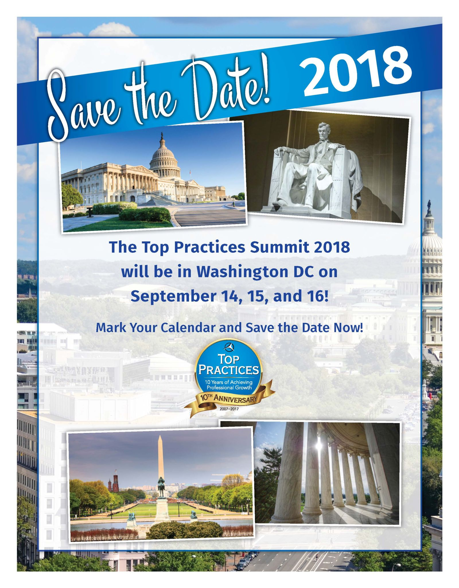 Save the Date for the Top Practices Summit 2018
