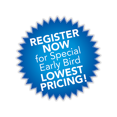 Register for Early Bird Pricing