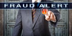 Fraud Alert Screen With a Padlock Tucker & Nong