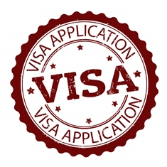 Red VISA Application Stamp
