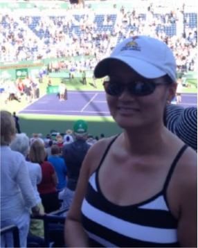 Estelle at the BNP Paribas finals, 2015 Indian Wells, CA