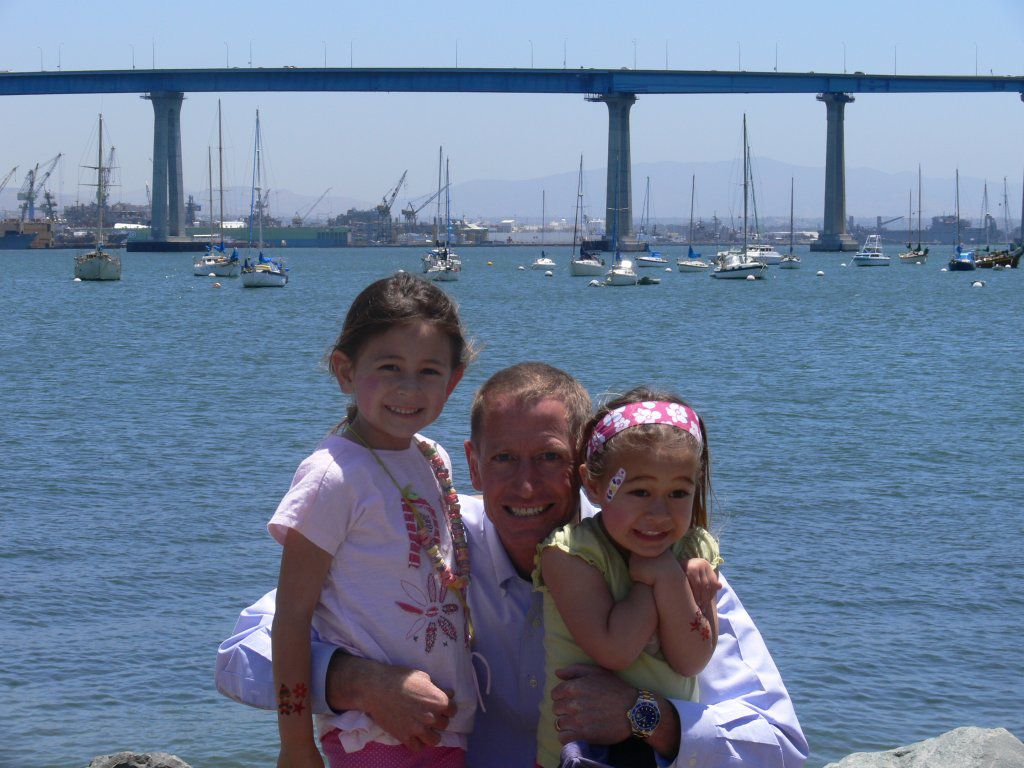 Bill and Daughters at the last day of school picnic