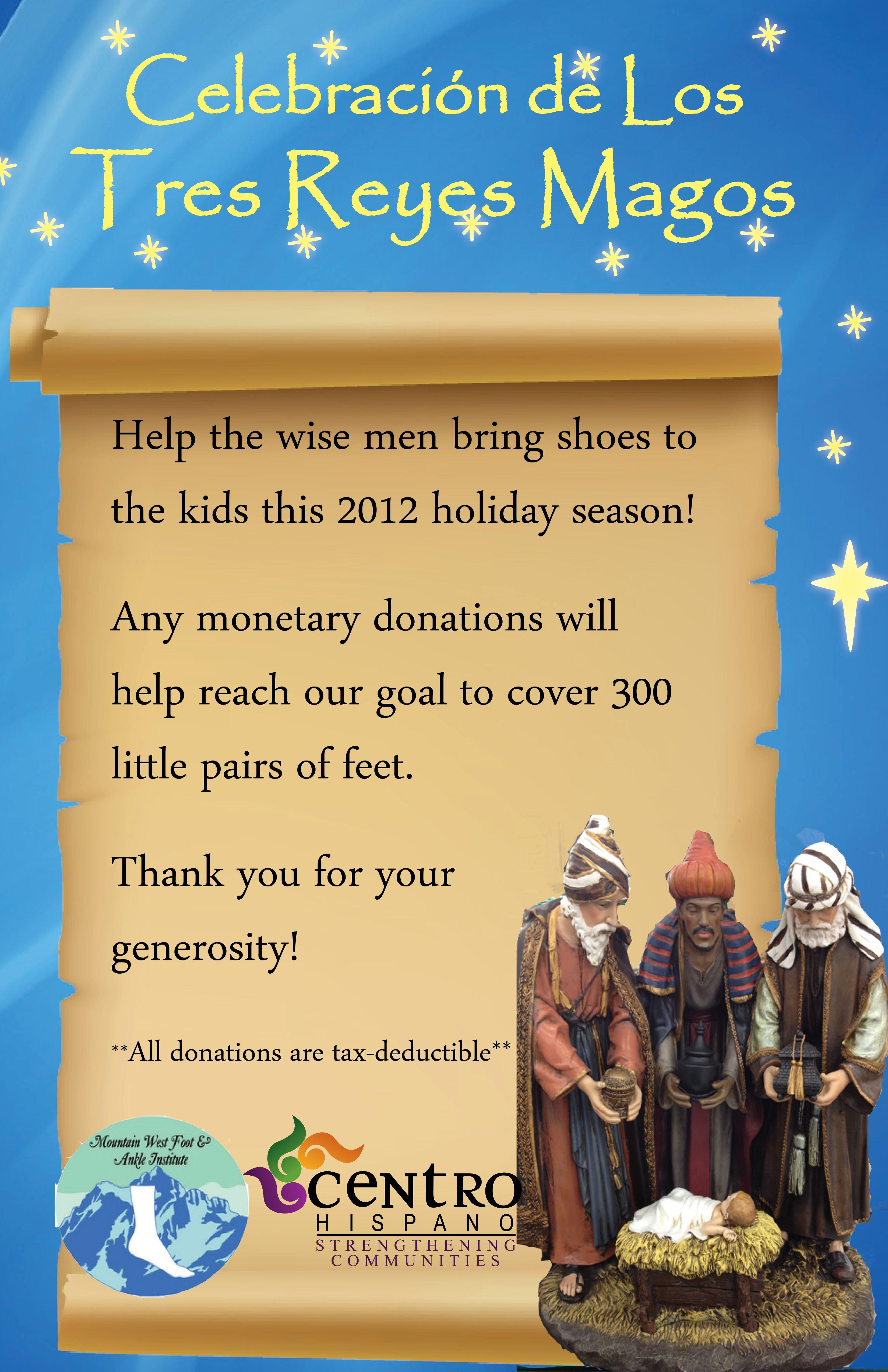 El Dia de Los Tres Reyes Shoe Drive