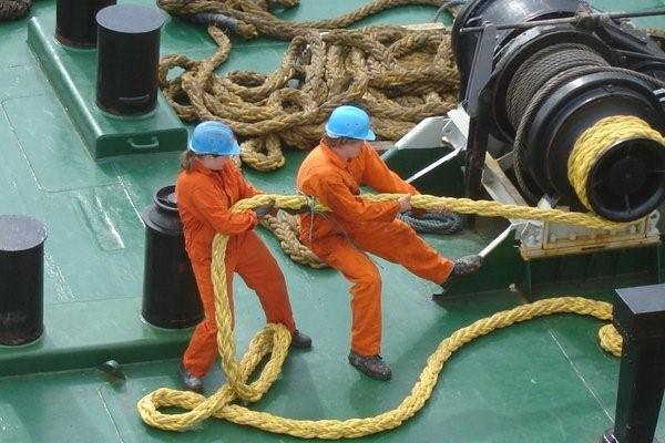 crew at sea