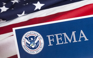 U.S. flag and FEMA seal