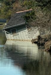 House Consumed by Flooding in Louisiana