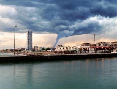 Tornado Over City