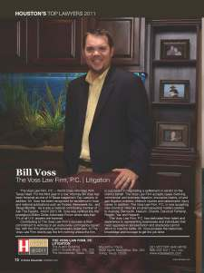 Bill Voss Houston Recognition