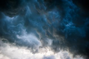 Dark Storm Clouds Swirling in the Sky
