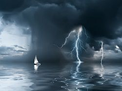 Stormy weather and lightning are two common reasons for marine insurance claims