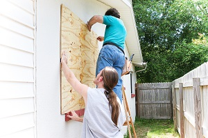 Boarding up windows can be a key element in hurricane preparedness