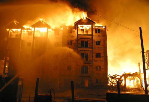 Blazing Condo Fire