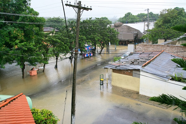 Flooding remains a problem in the aftermath of a hurricane