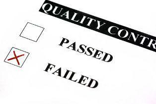 Failed Quality Control Check