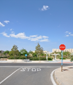 Intersection with stop sign